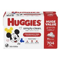 Huggies Simply Clean 无香型湿巾11袋,共 704 抽