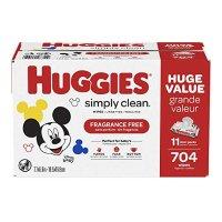 Huggies Simply Clean 无香型湿巾11袋,共 704 抽