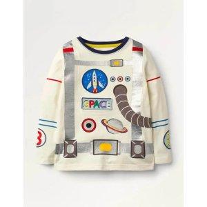 BodenApplique Astronaut T-shirt - Ivory Astronaut | Boden US