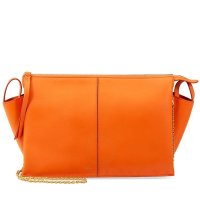 Celine 橙色链条包