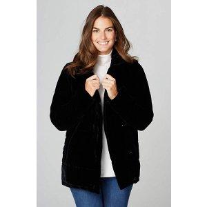 Velvet Puffer Coat