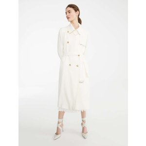 Max MaraWool trench coat, white -