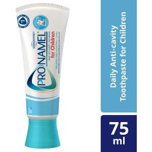 $3.69起收儿童防蛀牙膏Sensodyne ProNamel 牙膏  日常护理  强健牙釉质 75ml