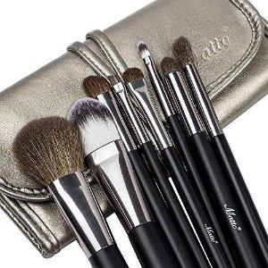 $12.99 旅行必备Matto 羊毛化妆刷套装特卖 专业8件套 方便携带