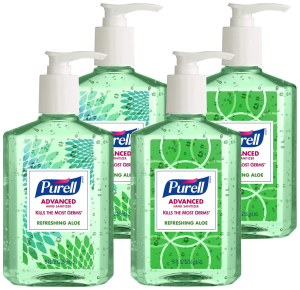 $11Purell 9674-06-ECDECO Advanced Design Series Hand Sanitizer, 8 oz Bottles (Pack of 4)@Amazon