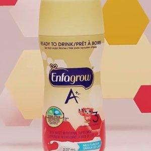 $11.47 (原价$13.99)Enfagrow A+ 美赞臣3段配方液体奶 237ml x 6瓶