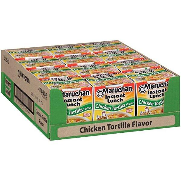 Chicken Tortilla口味杯装速食拉面 12杯装