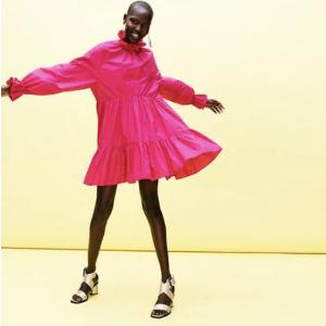 低至1.4折THE OUTNET 美裙专区,Ganni印花裙$122,Maje印花裙$149