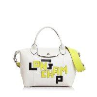 Longchamp Le Pliage 迷你皮质饺子包