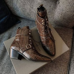 4折起!£99收封面尖头靴AllSaints 鞋靴春季大促 酷飒法风、英伦风穿搭必备