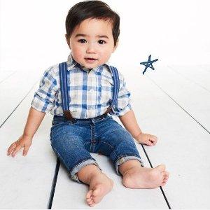 包邮+招牌款背带裤$$14.4起最后一天:OshKosh BGosh 儿童背带裤、背带裙低至5折+满额享8折