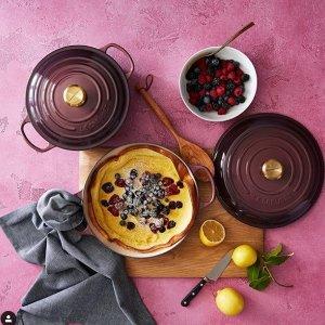 7折 锅具中的LVLE CREUSET 法国铸铁锅多款多色可选
