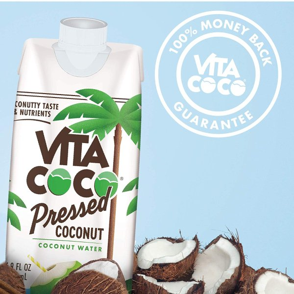 Vita Coco 鲜榨浓缩椰子水 16.9oz 12瓶装