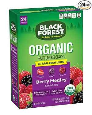 $6.55Black Forest Organic Fruit Snacks 24ct, Mixed Fruit