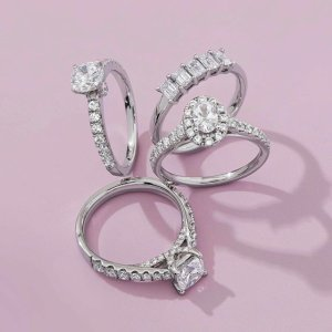 低至5折+额外8折 $83收钻石项链Peoples 全场首饰热卖 钻石恒久远 一颗永流传