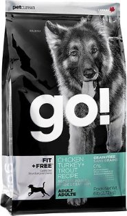 Go! Fit + Free Grain-Free Chicken, Turkey & Trout Recipe Adult Dry Dog Food