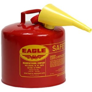 Eagle 5-Gallon Galvanized Steel Gas Can with Funnel
