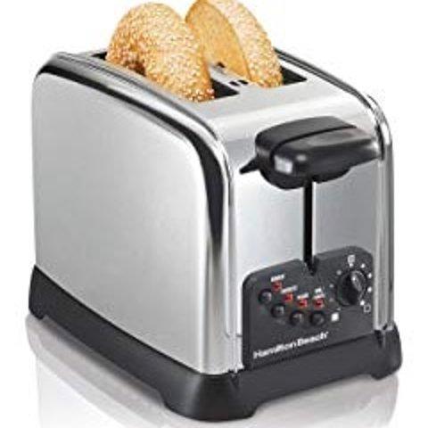 $19.99 (原价$39)史低价:Hamilton Beach 22790C 经典款不锈钢镀铬烤面包机