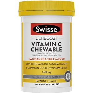 Swisse订阅享9折维生素C咀嚼片 110 Tab, 0.1420 kilograms