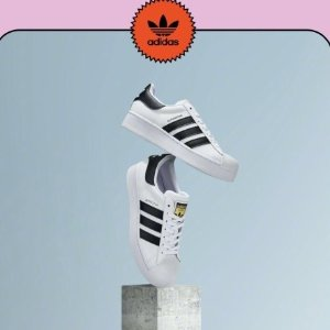 $43.63起 (原价$100)adidas Originals Superstar 经典运动鞋特卖