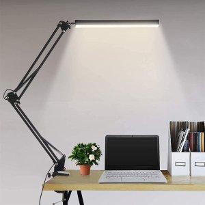 折后€21.99 色温亮度可调Ouryes LED护眼台灯热促 金属夹底座不占桌面空间
