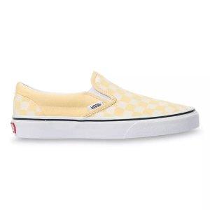 Vans糖果黄 是夏天的颜色啦女款格纹一脚蹬
