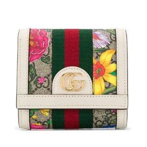 $399(原价$690)Gucci Ophidia 印花折叠钱包 经典拼色设计 小巧精致超实用