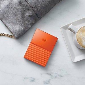 £89.99WD My Passport系列 4T 大容量移动硬盘 活力橙
