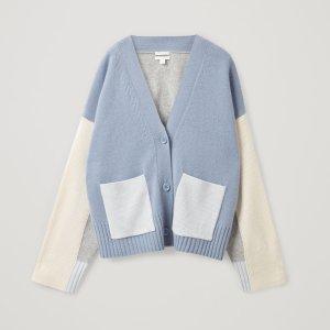 新款9折 £71就收人气开衫COS 爆款糖果色开衫英国上架 纯羊绒质地好看又好穿