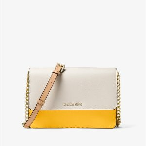 55121ef16848f2 Michael KorsDaniela Large Color-Block Saffiano Leather Crossbody