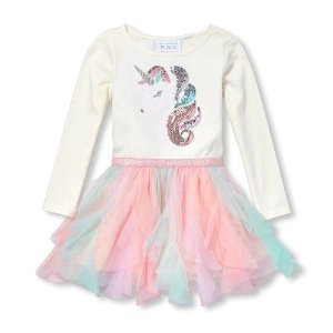 ae1f1f8ba The Children's PlaceBaby And Toddler Girls Long Sleeve Sequin Unicorn Knit- To-Woven Tutu. $9.98 $24.95. The Children's Place Baby ...