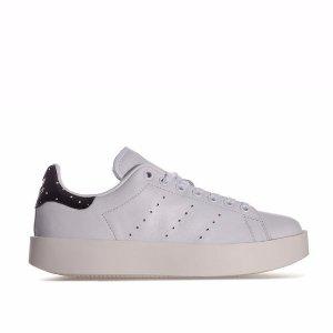 Adidas6折后价格Stan Smith系列女士厚底小白鞋