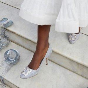 8.5折 £650收钻扣平底鞋Manolo Blahnik 轻奢美鞋闪促 收钻扣平底鞋、穆勒鞋