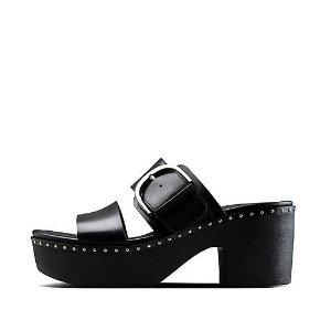 FitFlop黑色厚底凉鞋