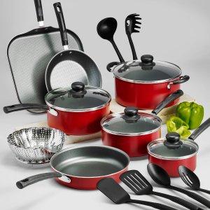 $39.97Tramontina 不粘锅厨具18件套装 红/黑两色可选