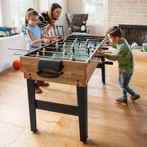 $114.99+包邮 家庭聚会 自娱自乐都可以最后一天:10合一综合功能游戏桌 可玩台球、兵乓球、桌式足球、牌桌等