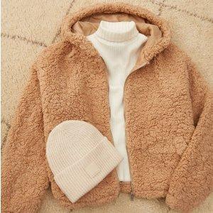 精选8折 £31就收泰迪熊大衣上新:New Look 泰迪熊外套大促 毛绒绒、软乎乎 让你温暖一秋冬