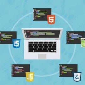 网站开发 HTML, CSS, JS, Node等