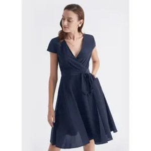 LILYSILKBOGO 40% offFigure Flattering Silk Wrap Dress