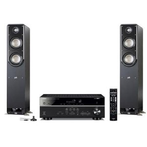 $549Polk Signature Speakers + Yamaha Receiver