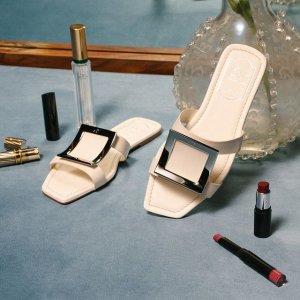 闪促6折!€312收方扣平底鞋Roger Vivier 法式优雅美鞋热促 经典方扣热潮又来了