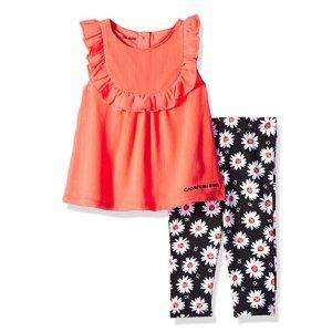 低至$5.04夏季童装热卖,收Under Armour,Calvin Klein