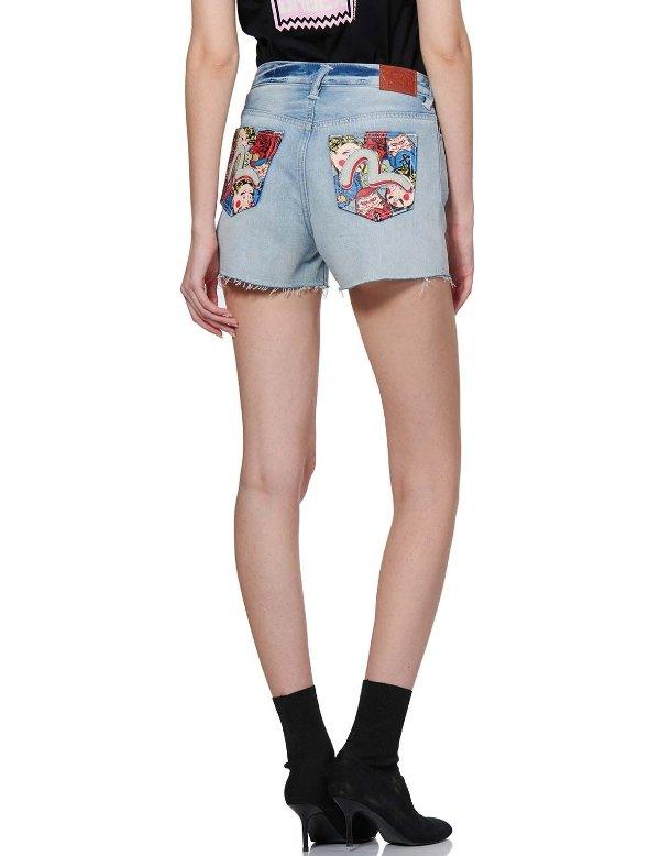 海鸥牛仔短裤