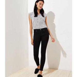 LOFTSlim Pocket Skinny Jeans in Black   LOFT