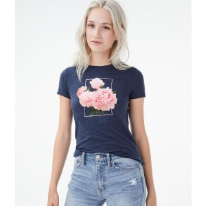 买1送2花朵T恤