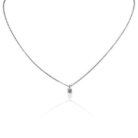 铂金钻石吊坠项链