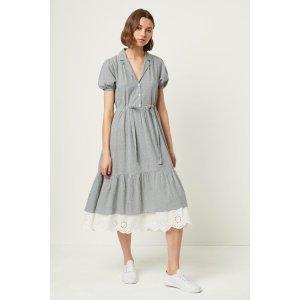 复古风衬衣裙