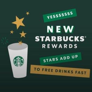 快速获得免费咖啡 快来看看规则Starbucks 星巴克全新积分系统上线 金牌会员还有更多福利