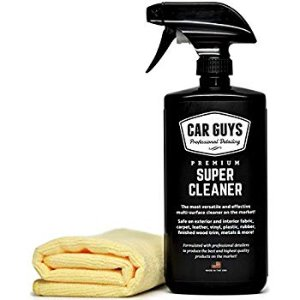 Amazon.com: CarGuys Super Cleaner - Effective All Purpose Cleaner - Best for Leather Vinyl Carpet Upholstery Plastic Rubber and Much More! - 18 oz Kit: Automotive