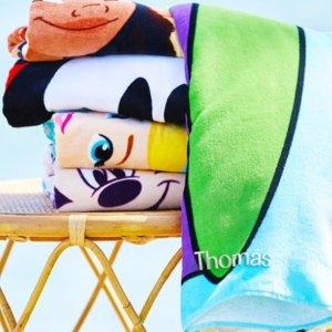 浴巾$12起+定制姓名$1shopDisney 个人定制产品促销 大朋友小朋友都喜欢